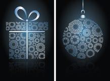 Christmas cards with ball Stock Photos