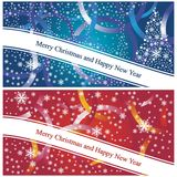 Christmas cards blue and red Stock Image