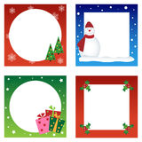 Christmas cards collection. Set of four cute cards for Christmas isolated on white, useful as greeting cards or frames.EPS file available Royalty Free Illustration