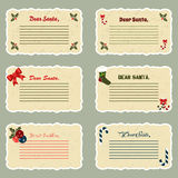 Christmas cards. Collection of six Christmas cards Stock Photography