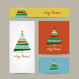 Christmas cards collection for your design Royalty Free Stock Photo
