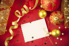Christmas cards / with copy space Stock Photos