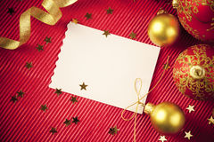 Christmas cards / with copy space / red and gold Royalty Free Stock Photography