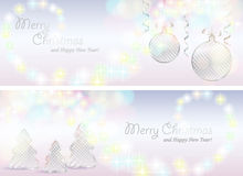 Christmas cards with decorations Royalty Free Stock Photography