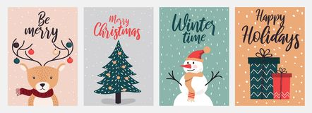 Christmas cards design 2 royalty free illustration
