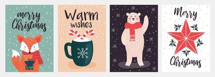 Christmas cards design 3 vector illustration