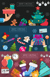 Christmas cards flat design Royalty Free Stock Photo