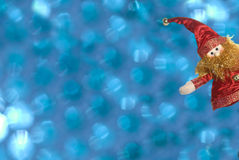 Christmas  cards, funny elf with copy space Stock Photography