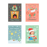 Christmas Cards 8. Here are beautiful Christmas Cards, just on time for the holiday season...Hope you enjoy them and have a very Merry Christmas Royalty Free Stock Photos