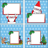 Christmas cards;  massage from Santa and friends Stock Image
