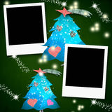 Christmas cards photo frames in blank Stock Image
