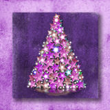 Christmas Cards ratchet stars and lights Royalty Free Stock Photo