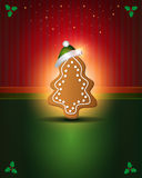 Christmas cards Red Green gingerbread Royalty Free Stock Photography