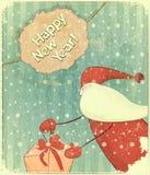 Christmas cards with Santa Stock Photo