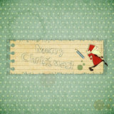 Christmas cards with Santa Claus Royalty Free Stock Images