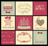 Christmas cards vector illustration