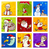 Christmas cards set Royalty Free Stock Photos