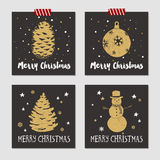 Christmas cards set. Royalty Free Stock Images