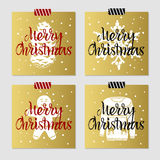 Christmas cards set. Stock Photo