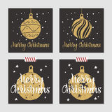 Christmas cards set. Stock Image