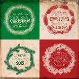 Christmas cards Royalty Free Stock Photos