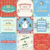 Christmas cards set Royalty Free Stock Photography