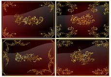 Christmas cards set 01 (vector) Royalty Free Stock Image