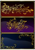 Christmas cards set 04 (vector) Royalty Free Stock Photography