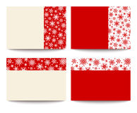 Christmas cards with snowflakes. Vector eps-10. Royalty Free Stock Photos