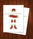 Christmas cards on the table Royalty Free Stock Images