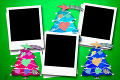 Christmas cards three photo frames Royalty Free Stock Photos