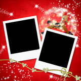 Christmas cards two photo frames Royalty Free Stock Photo
