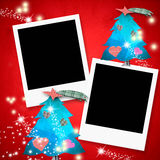 Christmas cards two photo frames Royalty Free Stock Images