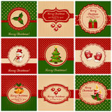 Christmas Cards. Vector Illustration. Stock Photos