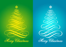 Christmas cards, vector set Stock Image