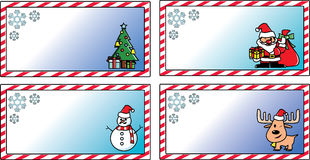 Christmas cards vector template Stock Image