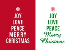 Christmas cards, vector Royalty Free Stock Photography