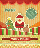 Christmas Cards With Santa Stock Images