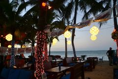 Christmas in the Caribbean stock photos