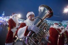 Christmas carnival on Nevsky Prospect Royalty Free Stock Image
