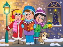 Christmas carol singers theme 5. Eps10 vector illustration royalty free illustration