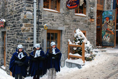 Christmas Carolers Stock Photography