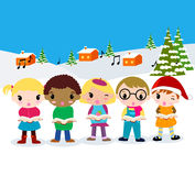 Christmas carolers Stock Image