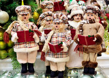 Christmas Carolers decoration. A group of Christmas Carolers decoration royalty free stock photo
