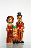 Christmas Carolers Singing. Vintage Christmas caroler figurines royalty free stock image