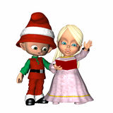 Christmas Caroling 1 Stock Photos