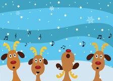Christmas Carols by Reindeers royalty free illustration