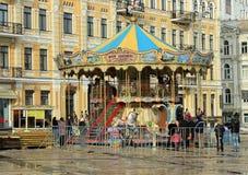 Christmas carousel Stock Photo
