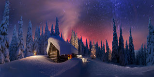 Christmas in the Carpathians Stock Images