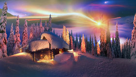 Christmas in the Carpathians Stock Photos